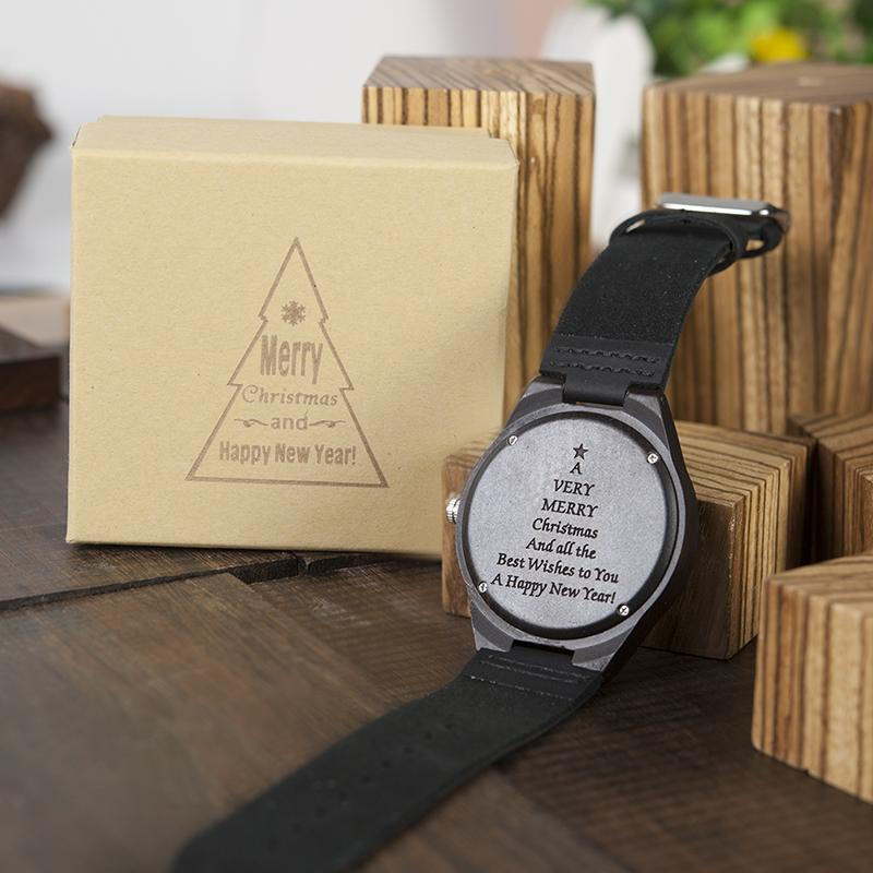 engraving men women watches family special christmas gifts for dad