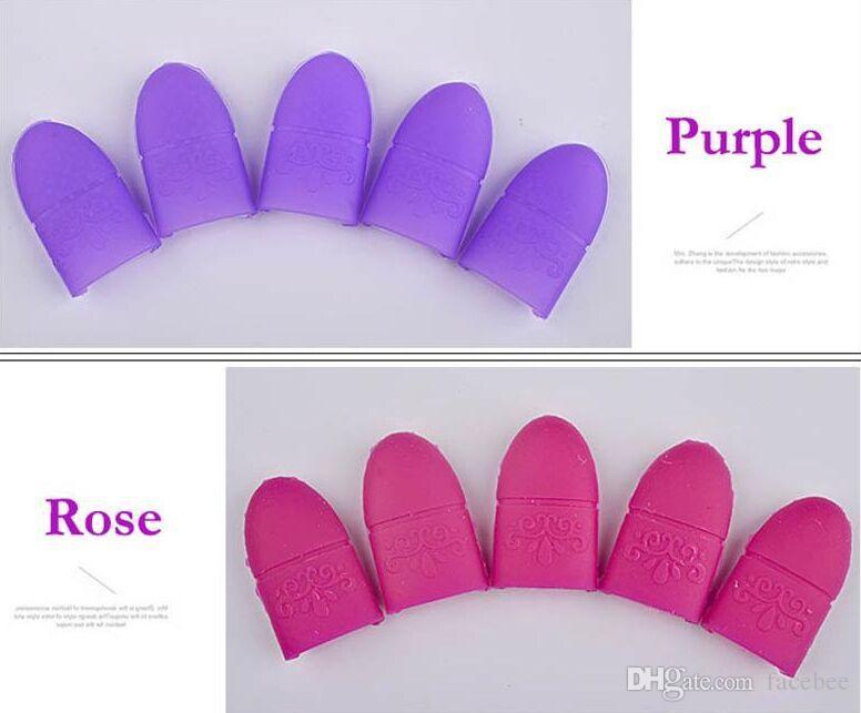 5 adet Nail Art İpuçları UV Jel Cila Sökücü Wrap Silikon Elastik Kapalı Islatın kap Klip Manikür Temizleme Vernik Aracı Kullanımlık Parmak Yeni Varış