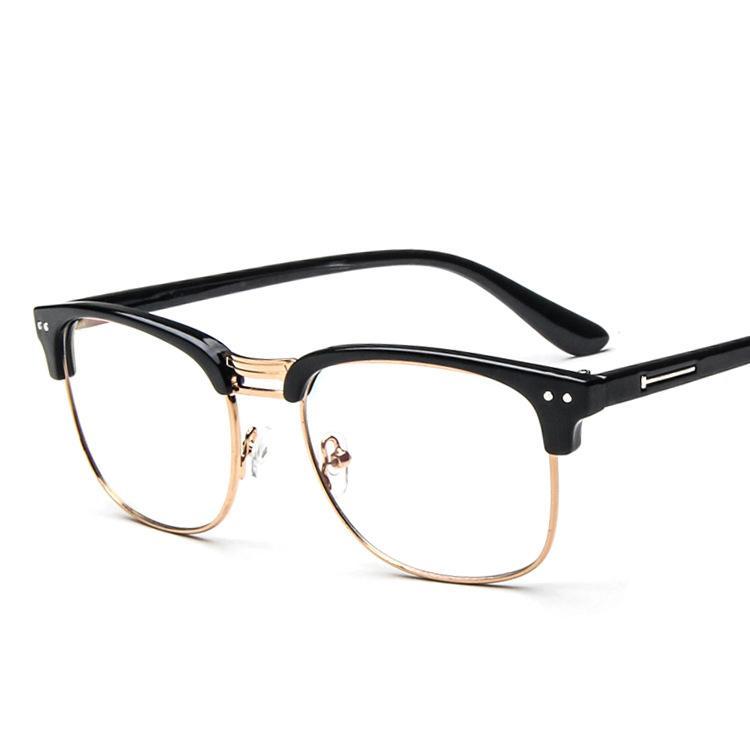 Metal Eyeglasses Frame Women Glasse Clear Green Vintage Transparent ...