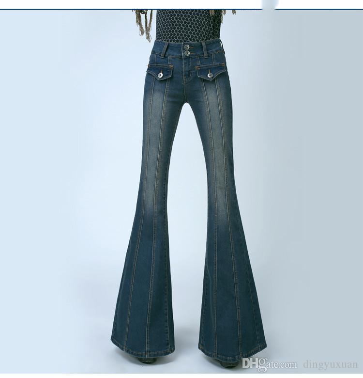 Bell blue bottom jeans