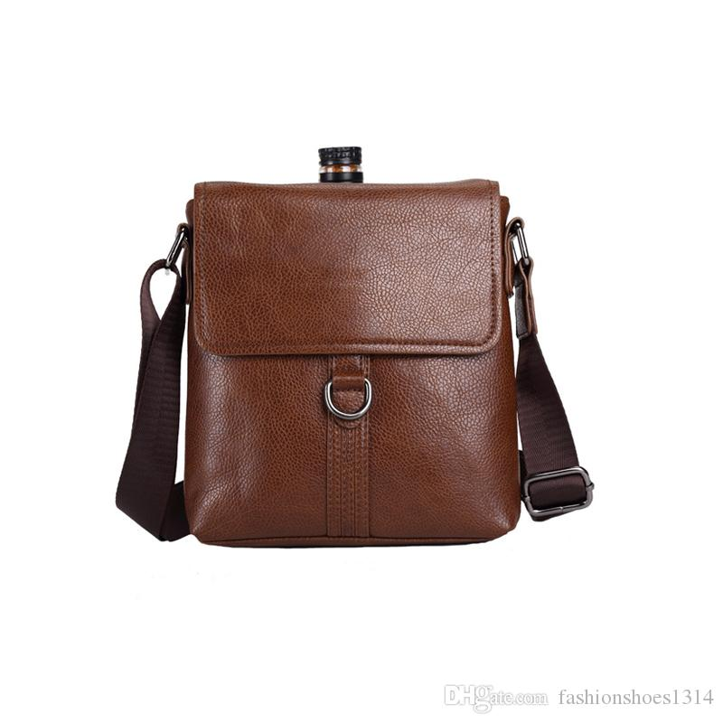 7371c63c15b46a Man Fashion Bags Famous Brands Business Briefcase Crossbody Bags For Men  Leather Messenger Bags Male Casual Travel Shoulder Bag Brown/Gray Cheap  Designer ...