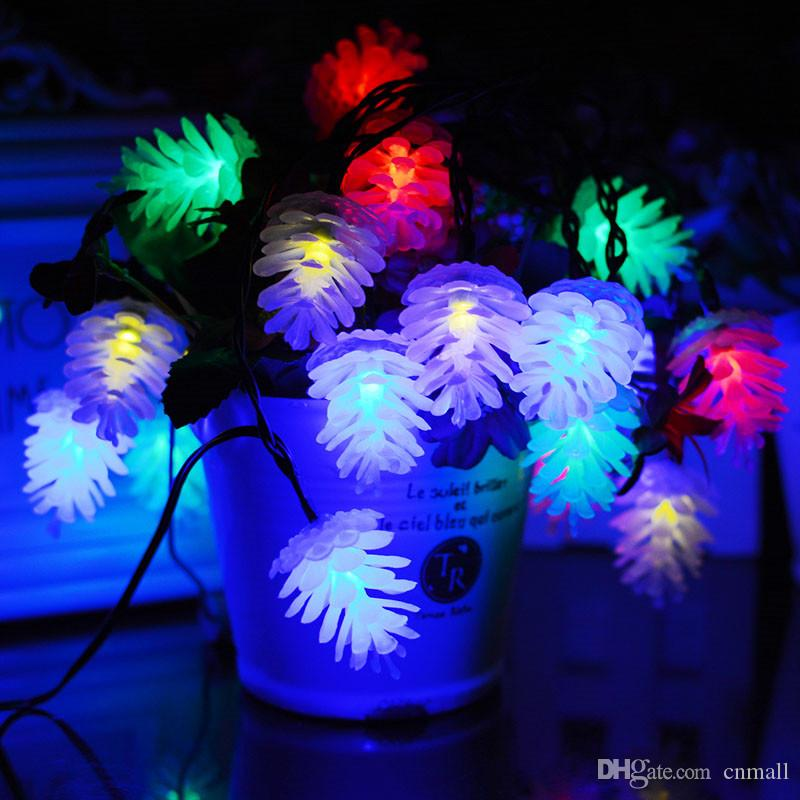 10/20LEDs Color-changing Solar Powered Led String Lights For Unique Pineal Design Hanging Street Fairy Garden Decorative