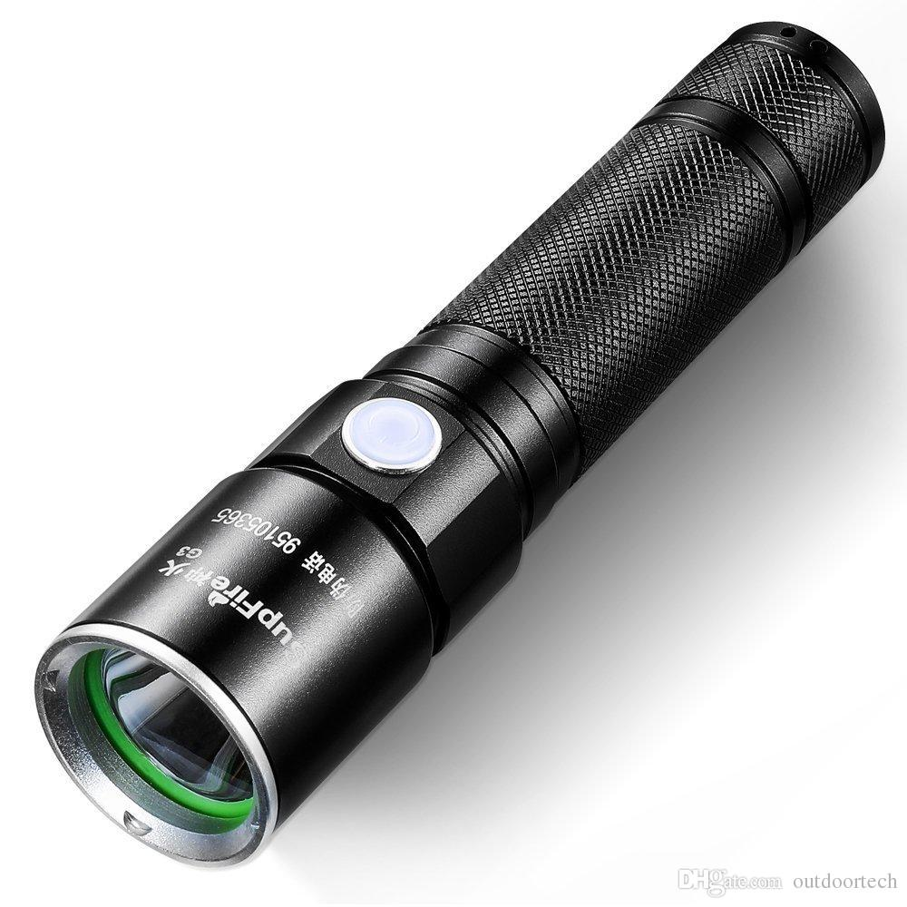 SupFire Tactical Flashlight Water-proof Torch Bright 350 Lumens LED With 18650 Battery Included,Rechargeable With USB Directly,5 Modes G3