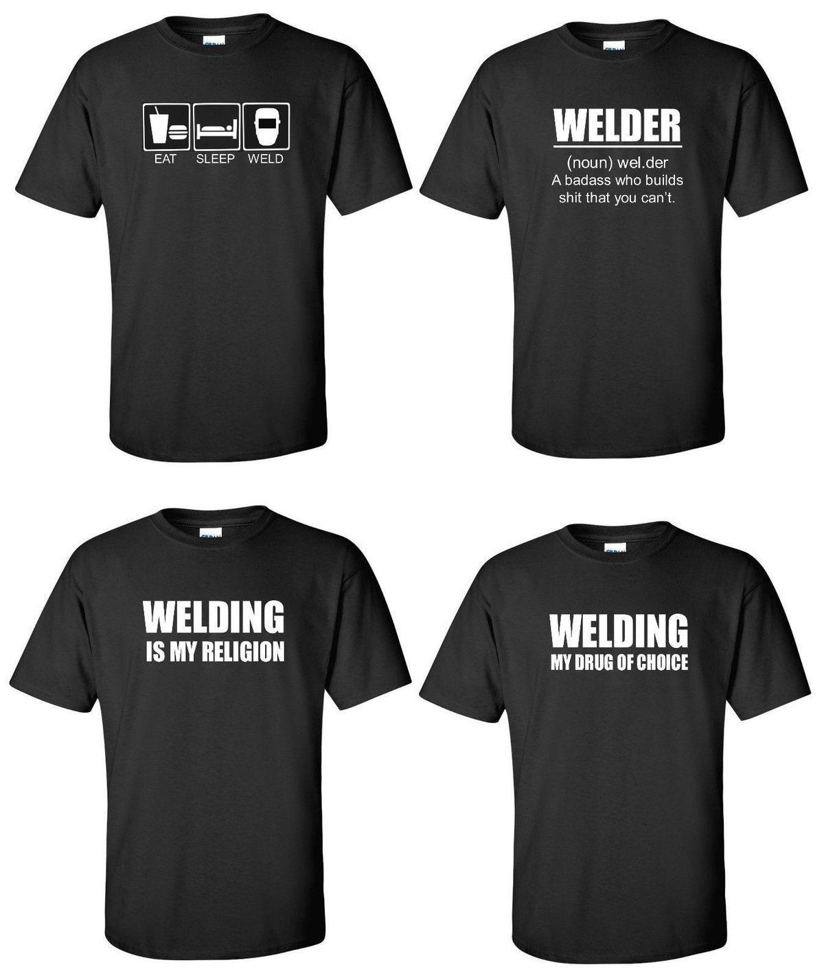 Welder T Shirt Eat Sleep Weld Welding Defintion Your Choice Funny
