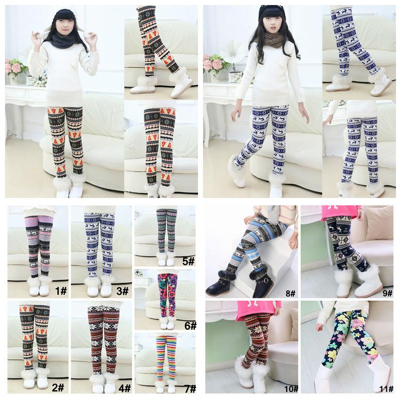 2ae48e22b3 Kids Girls Christmas Snowflake REINDEER Leggings Footless Thick Pants  Cashmere Milk Silk Winter Warm Print Leggings 100 150cm AAA1045 UK 2019  From ...
