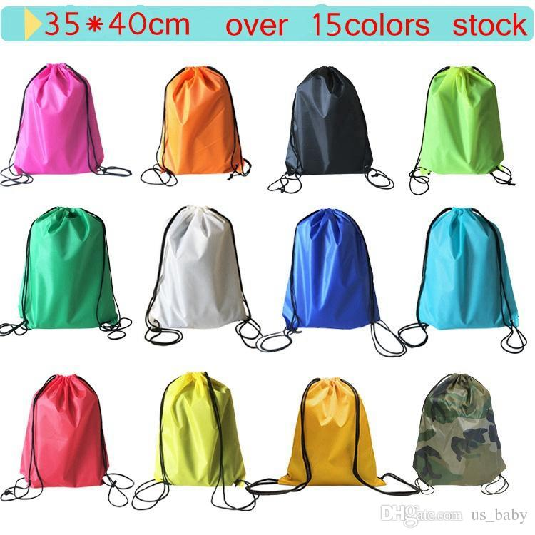 2ad783f3cf11 Kids Multifunctional Bags Shopping Bags School Drawstring Sport Gym PE  Dance Backpacks Solid Color Size 35 40cm Kids Backpacks Solid Color Bags  Online with ...