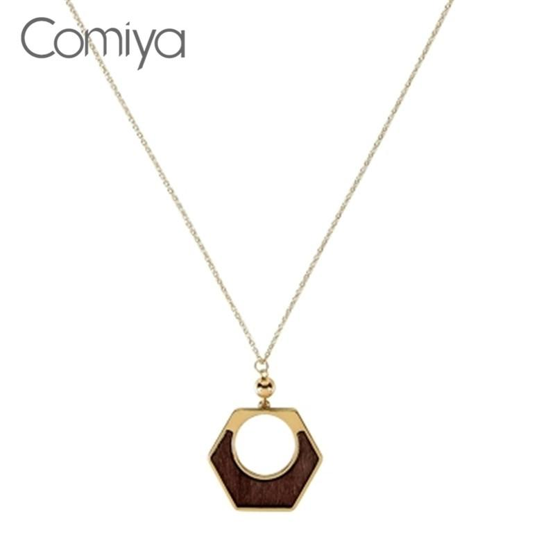 e518b269bc6c Comiya Statement Necklaces For Women Wood Mosaic Maxi Necklace Long Links  Zinc Alloy Vintage Collares Grandes India Jewelry Pendant Necklaces Cheap  Pendant ...