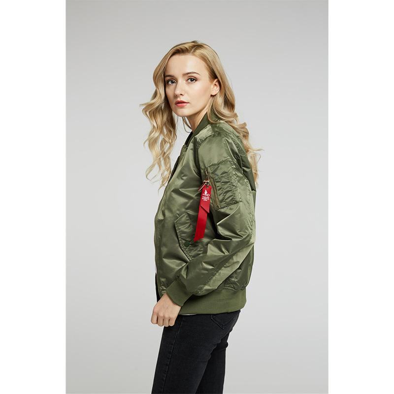 9d7ea07e9 2018 Spring And Autumn Thin Baseball Suit, Pilot Air Jacket, Female Loose  Fit Short Wind Coat.