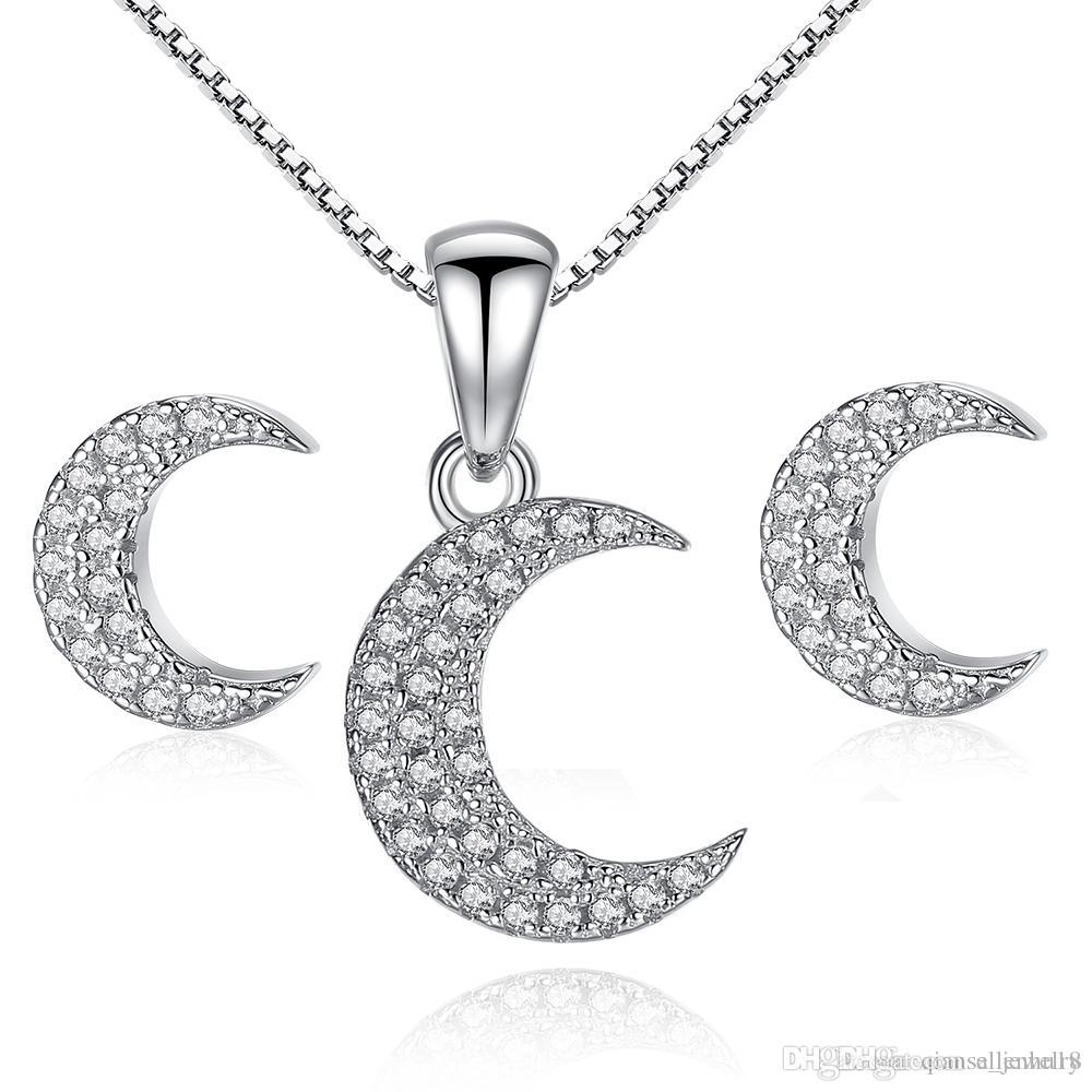 Cheap Pearl Black Jewelry Set Wholesale Platinum Cubic Zirconia Jewelry Set ac7806c29e0e
