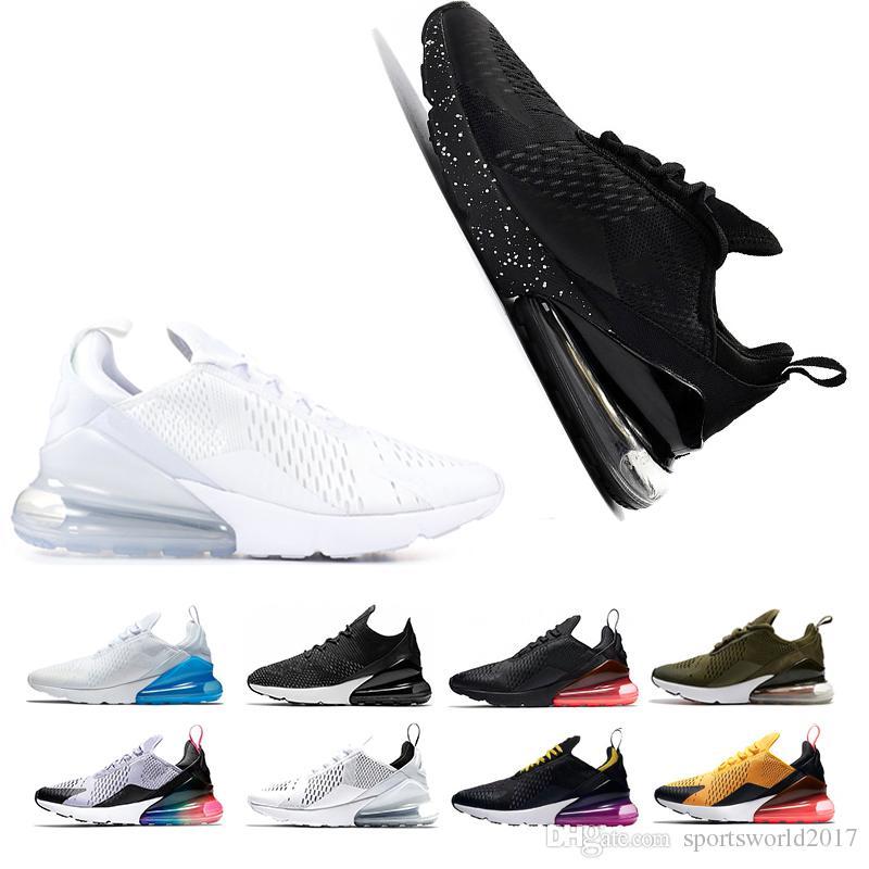 8d3c5928e6f6 Top Quality 270s Shoe Men Running Shoes 27C Triple Black White Oreo ...