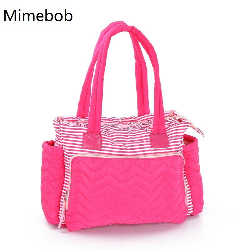 2019 Women Duffel Bag High Quality Stripe Mummy Baby Diaper Bag With Pad  Mommy Baby Nappy Care Maternity Mom Large Travel From Begonior,  36.66    DHgate.Com 910f7a63b0