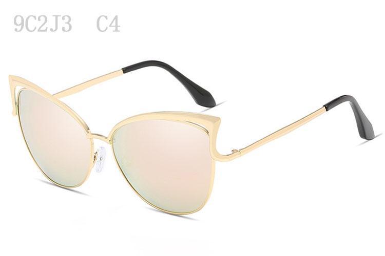 Occhiali da sole le donne di lusso delle donne di Sunglass specchio di alta qualità Occhiali da sole delle signore di modo oversize Sunglases Occhiali da Sole 9C2J3
