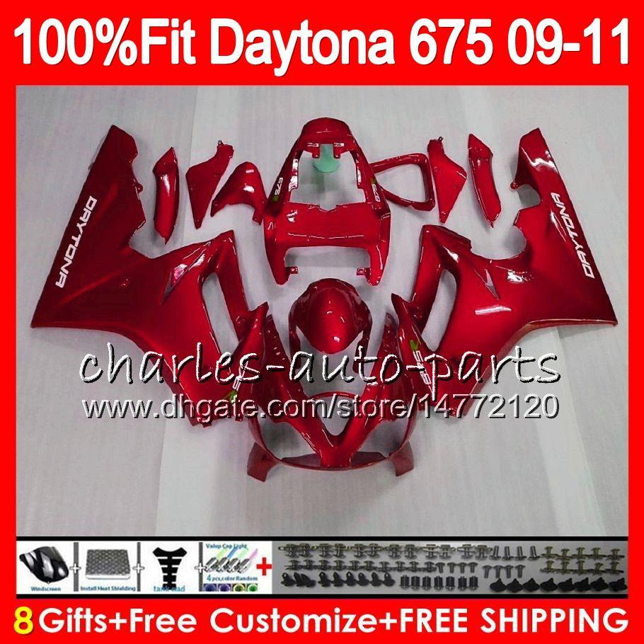 Injection For Triumph Pearl Red Bodywork Daytona 675 2009 2010 2011 2012 107HM.90 Daytona 675 09 10 11 12 Daytona-675 Daytona675 Fairing