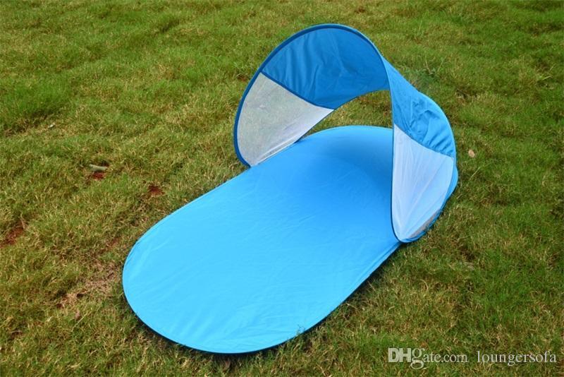 Nuovo modello completamente automatico Sandy Beach Tende e ripari impermeabile multifunzione Beach Mat all'aperto singola tenda pieghevole 15 dz W