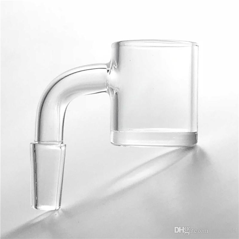 Novo 24mm quartz banger com 4mm de espessura de fundo plano superior shory pescoço banger prego 10mm 14mm 18mm para plataformas de petróleo bongs de vidro