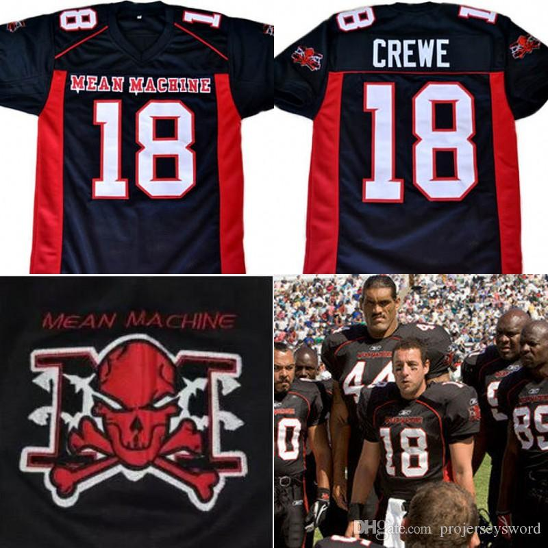 70d51624c80 2019 The Longest Yard Movie Jersey EJ Paul Crewe #18 American Football Jersey  Mean Machine 100% Stitched Retro Jerseys Black From Projerseysword, ...
