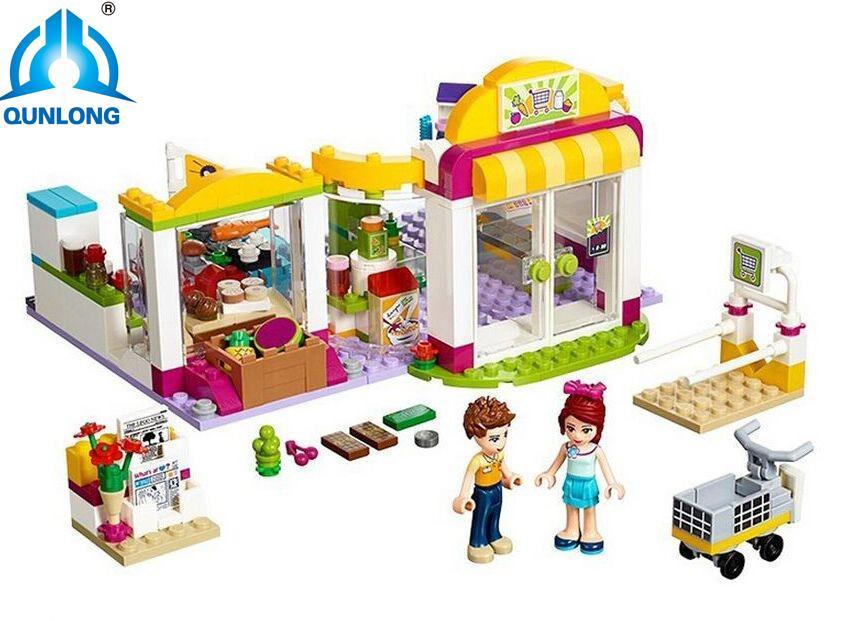 Construction Lefter Pcs Blocs Jouet Supermarché Briques Qunlong Kits Heartlake 41118 Compatible Amis Modèle Cadeau Fille De 318 l3cJFTK1
