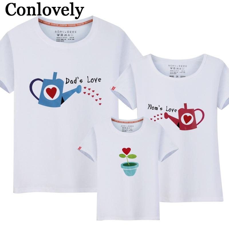 b2e22cdc962b Family Matching Outfits Summer T Shirt Mom And Son Matching Clothes Kettle  Pattern Father Daughter T Shirt Dad And Daughter Matching Outfits Parent  And ...