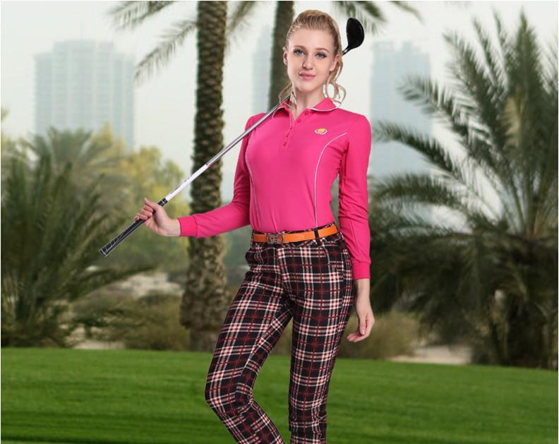 db52ca23 2019 PGM Women Outdoor Fit Polomens Golf Polo Shirts Quick Dry Long Sleeve  Golf T Shirts Clothing Table Tennis Shirt,From Quintin, $107.03 | DHgate.Com
