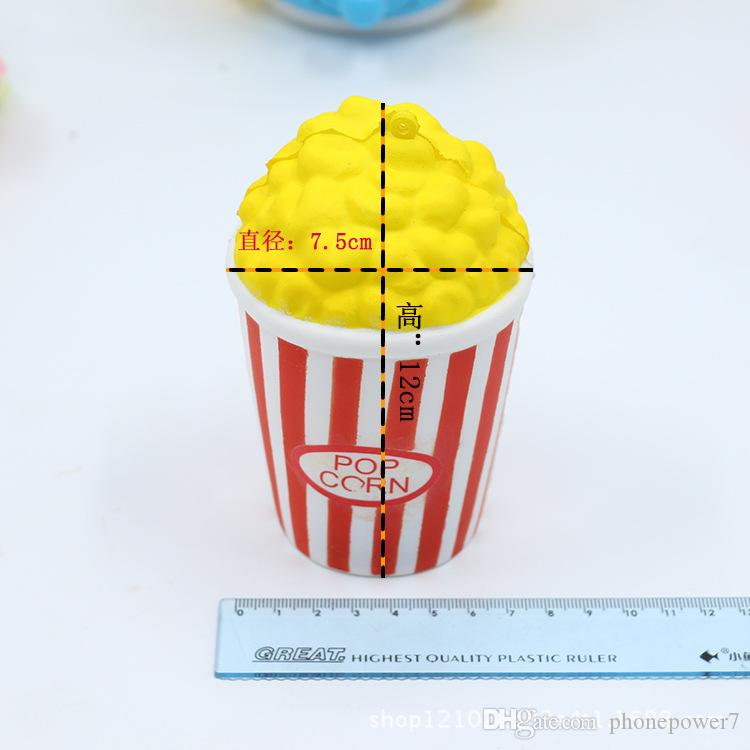 The design Popcorn 12cm*7cm 60g pu squishy kawaii jumbo slow rising Squishy decompression charm squeeze toy