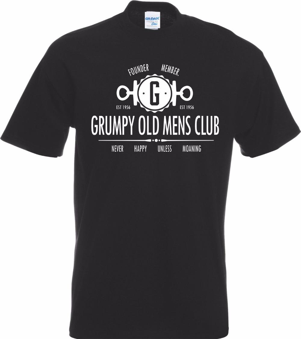 Custom T Shirts Cheap Funny Grumpy Old Mens Club Grand Father Dad