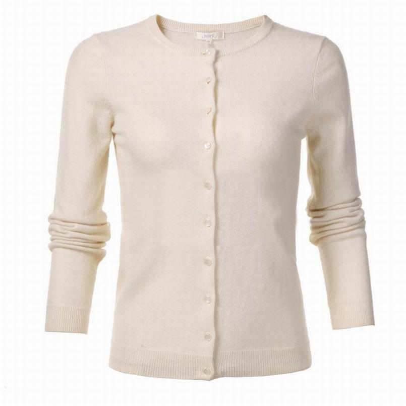 d9b1ab8ce575 Acheter Cachemire Laine Pull Femmes Cardigan Tissu Naturel Doux Chaud Blanc  Chandails Haute Qualité Liquidation Vente Livraison Gratuite De  111.28 Du  ...