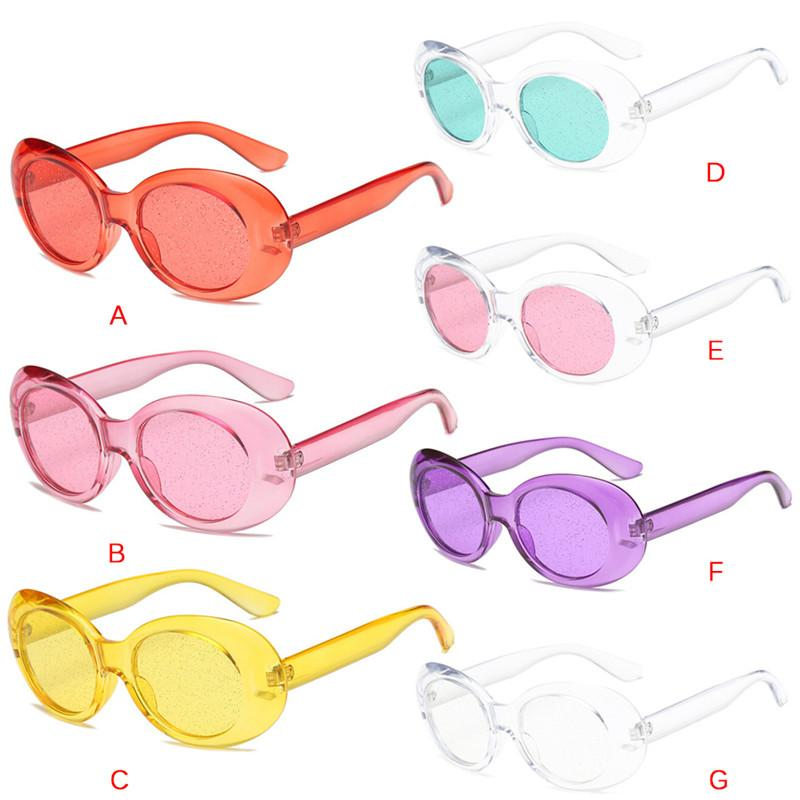 d18b880d4f New Sale Oval Sunglasses Fashion Women Men Green Red Pink Frame Brand  Designer Particles Clear Lens Mirror Sunglasses Boots Sunglasses From  Jingchengyan