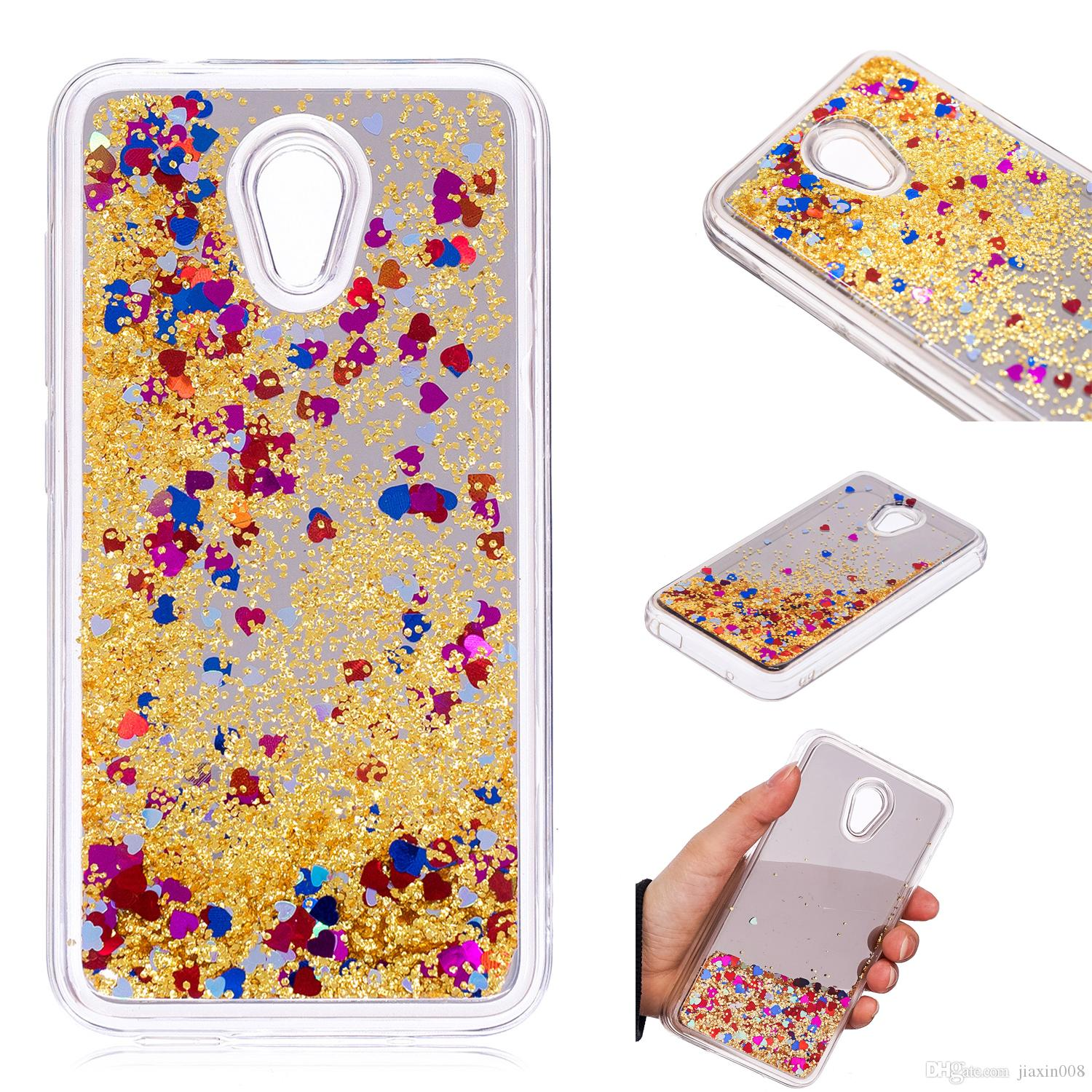 timeless design 08610 e680f Cover For Alcatel U5 3G 4047D 4047 Case Quicksand Flash Glitter Powder  Mirror Hard Mobile phone Cases Covers