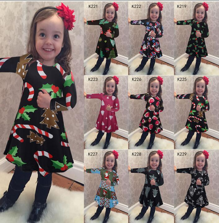 8bb4139b64e 2019 Children Kids Girls Long Sleeve Dress Xmas Snowman Christmas Print  Swing Dress Dot Tree Print Dress Clothes KKA5972 From Liangjingjing watch