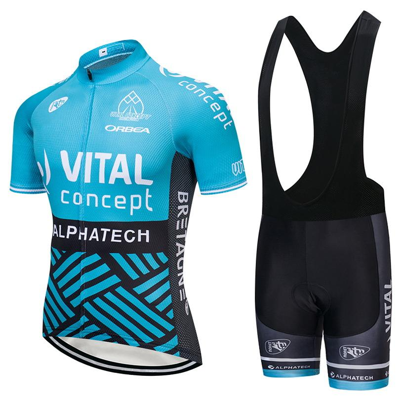 Cycling Jersey 2018 Pro Team Vital Men S Short Sleeve Bicycle Clothing Kit  Summer Breathable MTB Road Bike Cycle Jersey Bib Shorts Kit Bike  Accessories ... 317a4050d