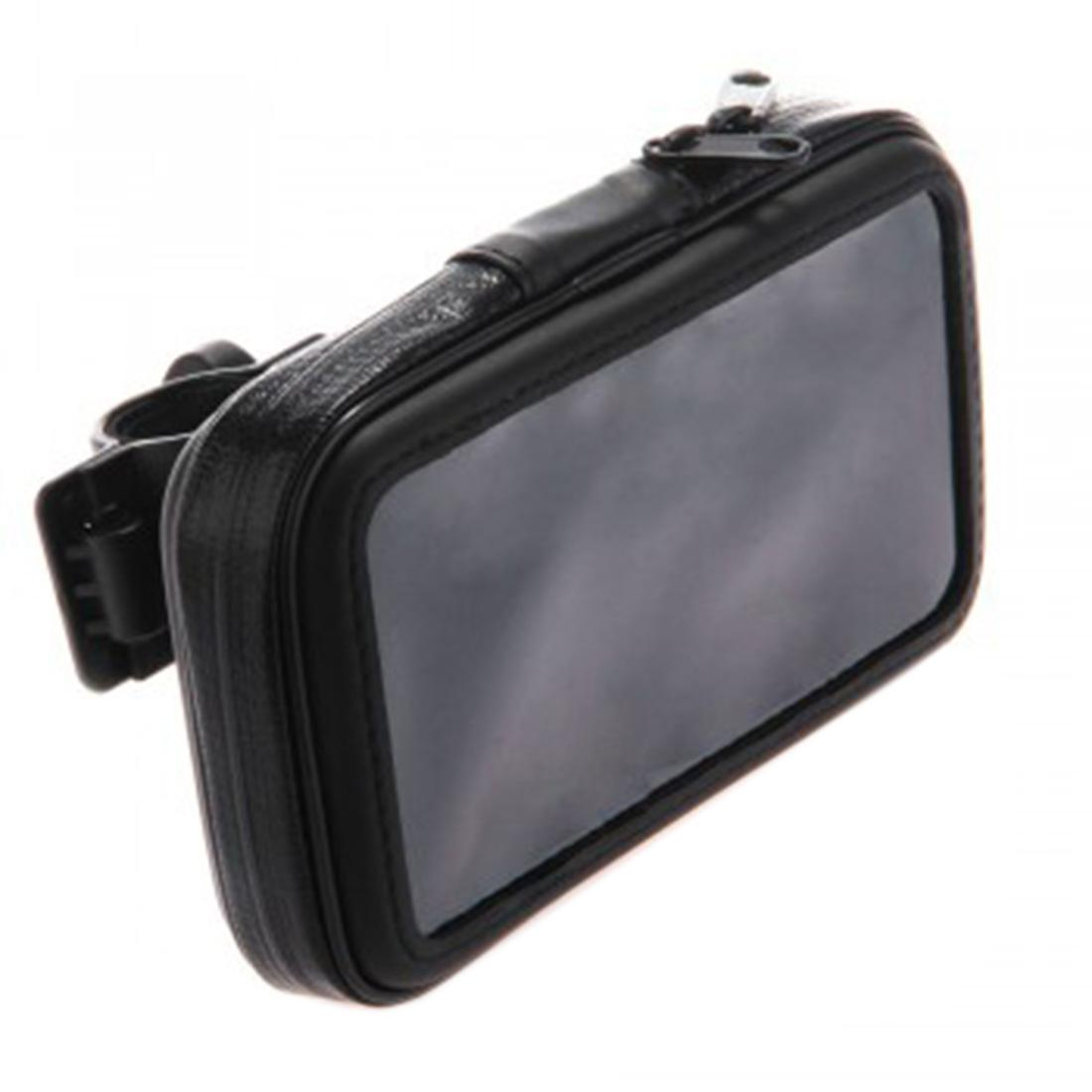 Dewtreetali Bicycle Frame Bike Mobile Phone Holder Waterproof Bag Case with Handlebar Bracket Mount Base for iPhone