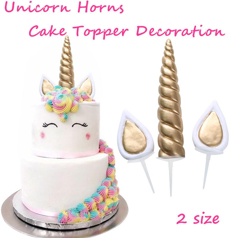 2019 Event Supplies Cake Topper Baking Desserts Halloween Party Unicorn Horns Children Kids Birthday Decoration From Icelly