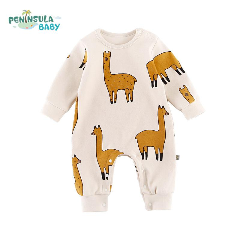 4158802c6d20 2019 New Infant Toddler Newborn Baby Girl Boy Rompers Alpaca Printed ...