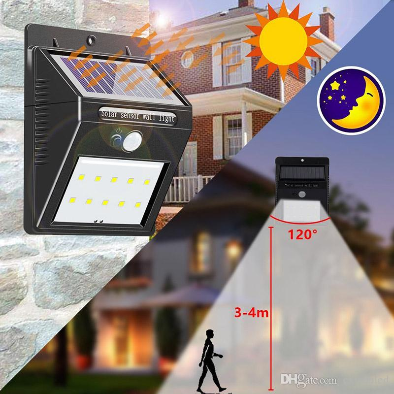 Outdoor 28 LEDs Split Solar Powered Light Bulb PIR Motion Sensor 3 Modes Waterproof Separate Garden Street Night Lamp 8.2ft Extension Cord