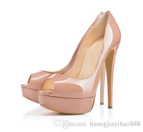 57e02a4168b Classic Brand Red Bottom High Heels Platform Shoe Pumps Nude Black ...