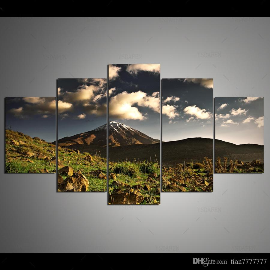 Natural Scenery Mountains Painting On Canvas HD Print Rock Landscape Poster Picture Home Wall Decor Art Gift Unframed
