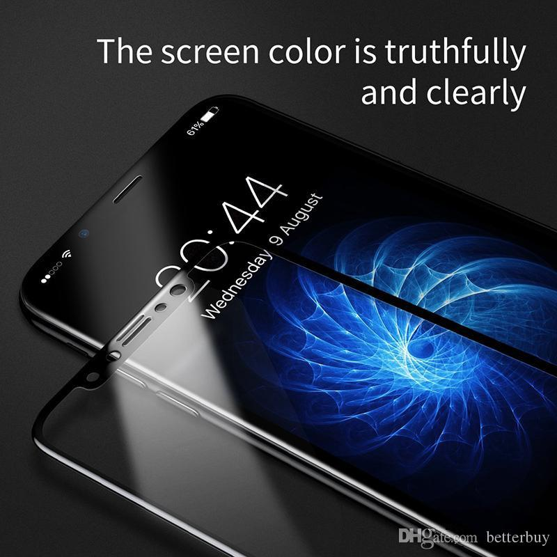 2018 For phone Tempered Glass Full Screen color Protector 3D Curved S7 Edge Cell Phone Screen Protectors High Quality Fast Shipping