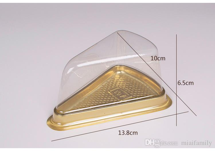 1000 unids = Desechable Plástico Transparente Queso triángulo Torta Postre Cajas De Plástico de Recogida Caja de Pastel para Pastelería Panadería Postre