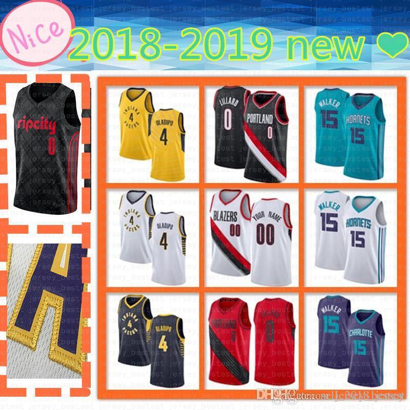 cb0978075 Mens Portland Jersey Trail Blazers 0 Damian Lillard Indiana Pacers 4 ...