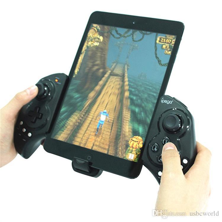Hochwertige drahtlose Bluetooth-Spiel-Joystick für mobile Tablets Computer Mutli-Funktion Wireless Gampad mit einziehbaren Halter