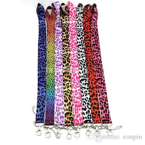 Leopard grain Lanyard Necklace Chain String with Clip E-Cigarette Neck Chain Phone ID card Rope lanyards 55cm