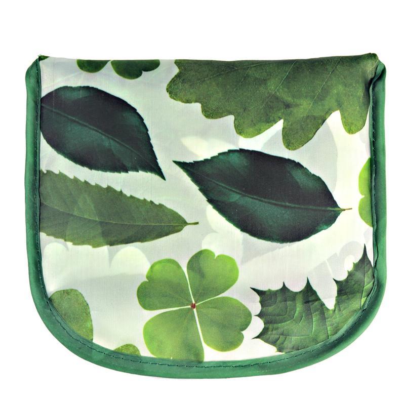 Хорошее качество! Сумка для покупок с зелеными листьями, экологически чистая Портативная сумка для покупок для путешествий