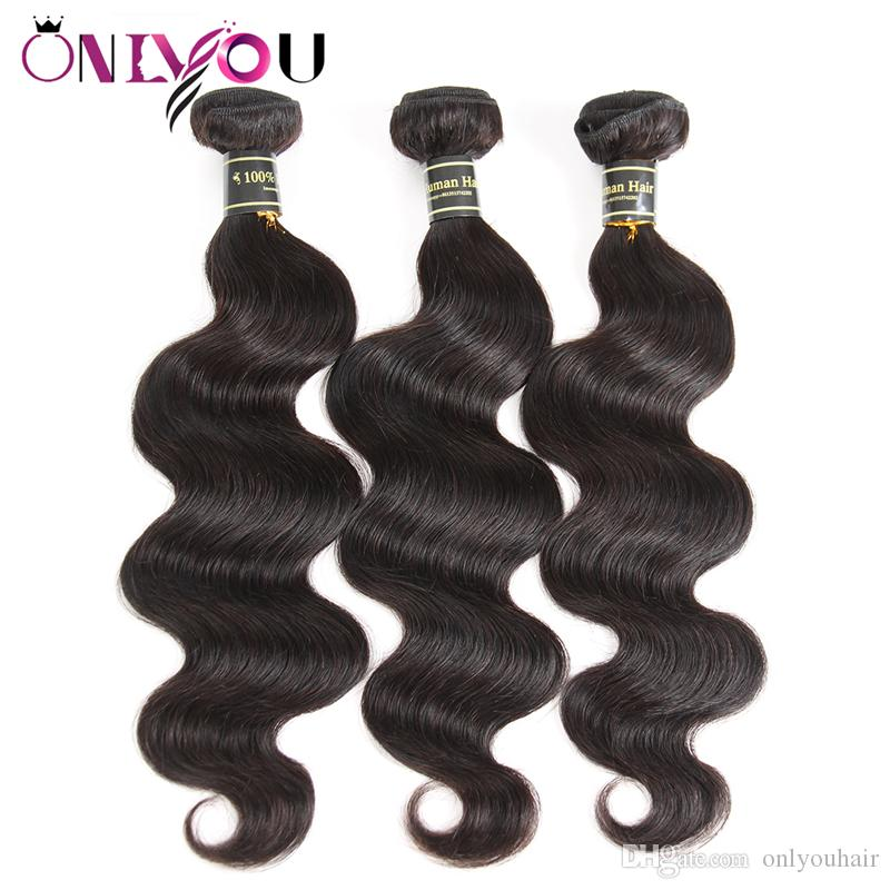 Brazilian Virgin Hair Body Wave Straight Deep Water Wave Kinkly Curly Human Hair Extensions 10a Grade Weft Weave 3 4 Bundles Natural Black