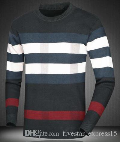 Good Quality Brand Casual Sweater O-Neck Striped Slim Fit Men Long ... a86db7105