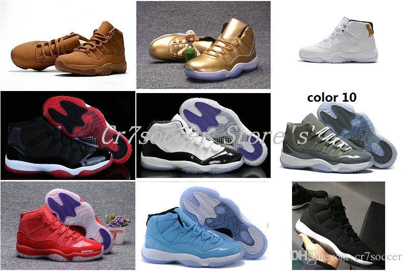Großhandel 11 Coole graue Wildleder Herren Basketball Schuhe Günstige 11s Sportliche Turnschuhe Rabatt XI Raum Marmelade Frauen Sportschuhe gezüchtet