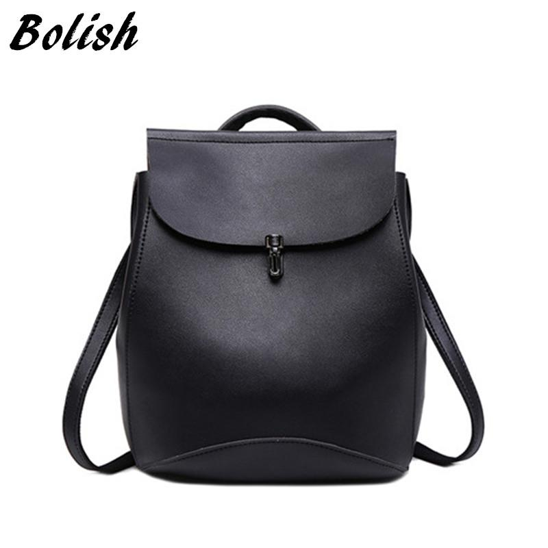 30ef524836 Bolish Brand High Quality PU Leather Women Backpack Vintage Backpack For Teenage  Girls Casual Bags Female Travel Bag Mens Backpacks Swiss Army Backpack From  ...