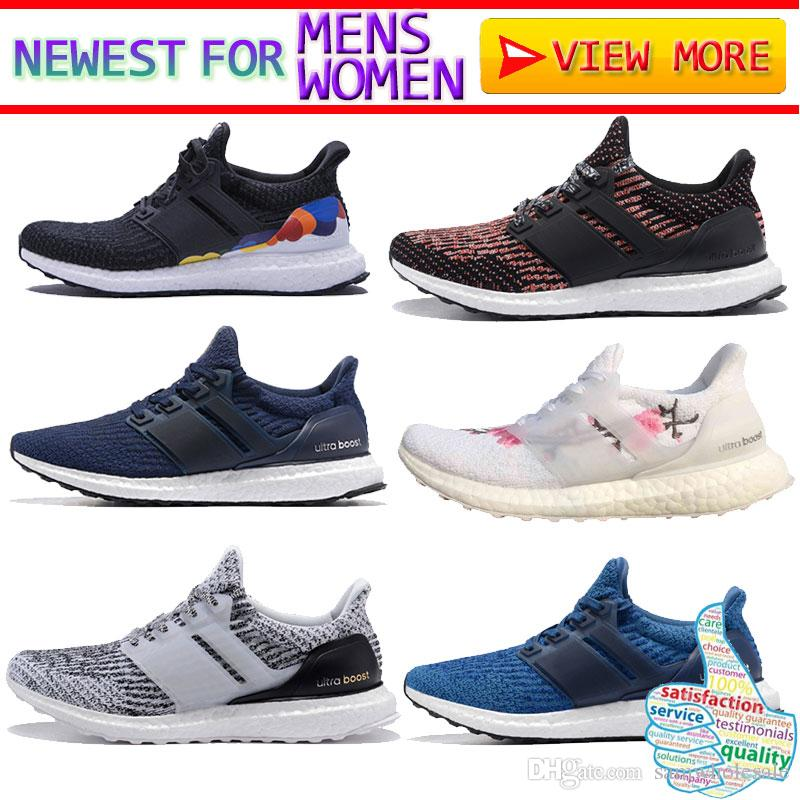 f87e17f4c 2018 Ultra Boost 3.0 Triple Black Running Shoes Men Women Top Quality Ultra  Boost Hypebeast Primeknit Core Black White Athletic Sport Red Patent  Leather ...