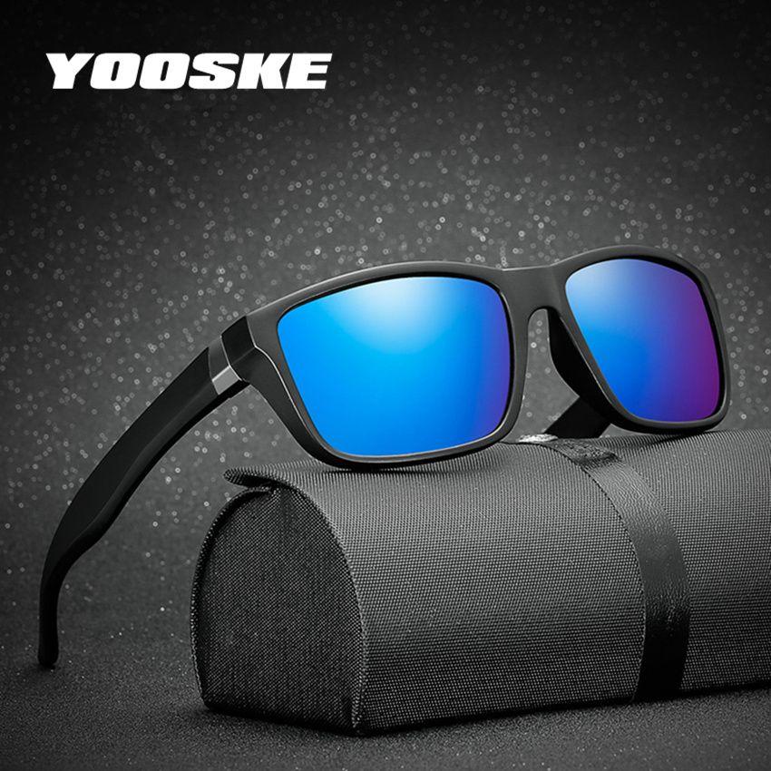 e356c00e1dc YOOSKE Men Glasses HD Polarized Lens Sunglasses Men Brand Polarized Sun Glasses  Vintage Matte Black Frame Driving Eyeglasses Sunglass Cheap Sunglasses From  ...