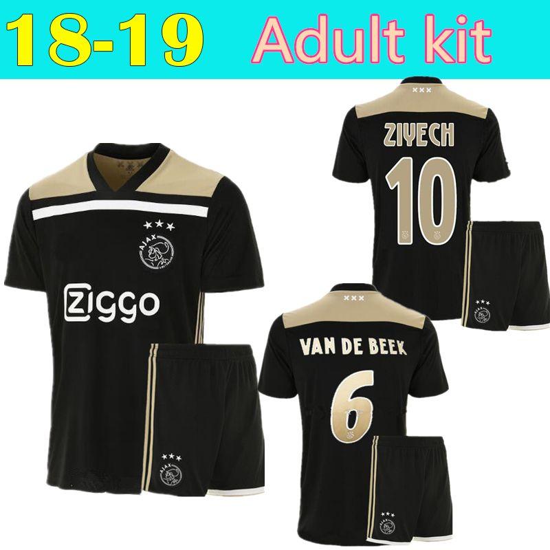 e10d0465a 2019 2018 2019 Best Quality Ajax Adult Kit Soccer Jersey Ajax Away Mens Soccer  Shirt Customized  10 KLAASSEN  34 NOURI Football Shirt From Cst726