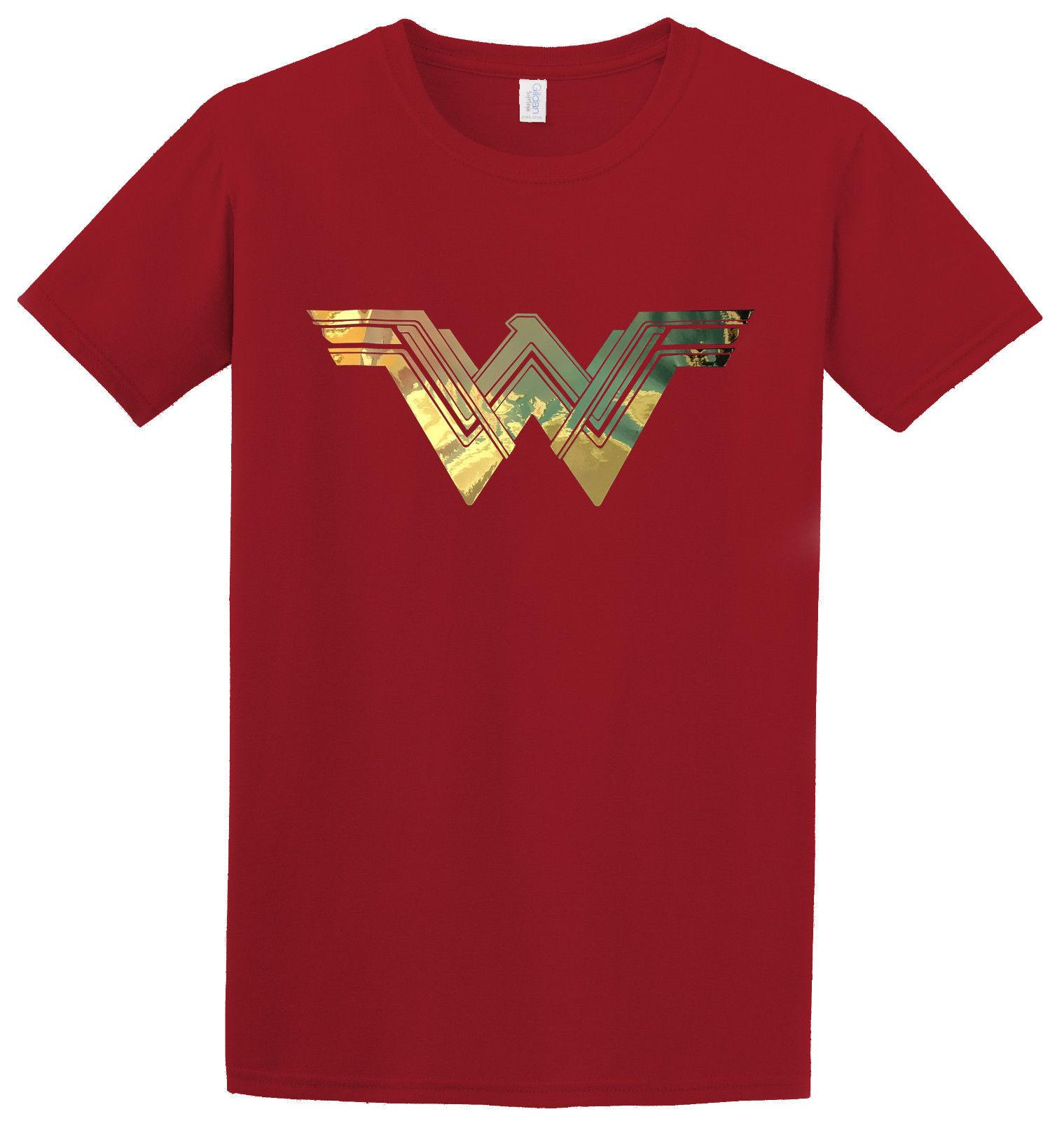 1e41bdf57 Details Zu Wonder Woman Justice League Gold Metallic Logo Movie Inspired T  Shirt Funny Unisex Casual Tee Gift Cool Tee Shirt T Shirt Online Buy From  ...